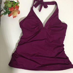 NWT Athleta shirrendipity halter swim tankini